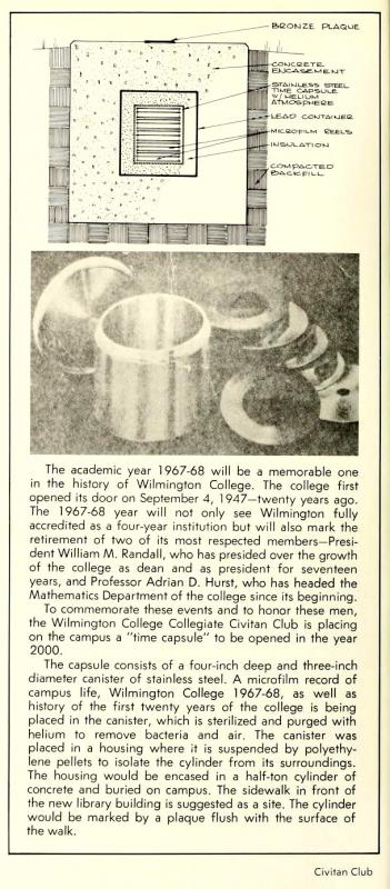 Article from the 1968 Fledgling yearbook
