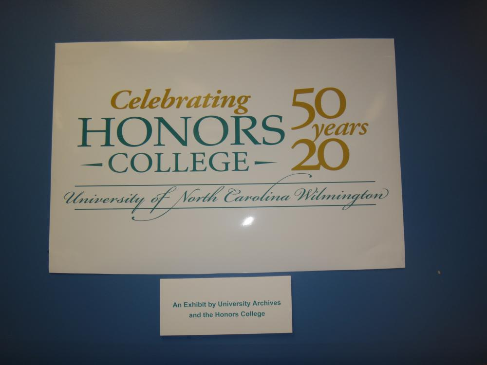 Title banner for Honors College Exhibit: Celebrating Honors College