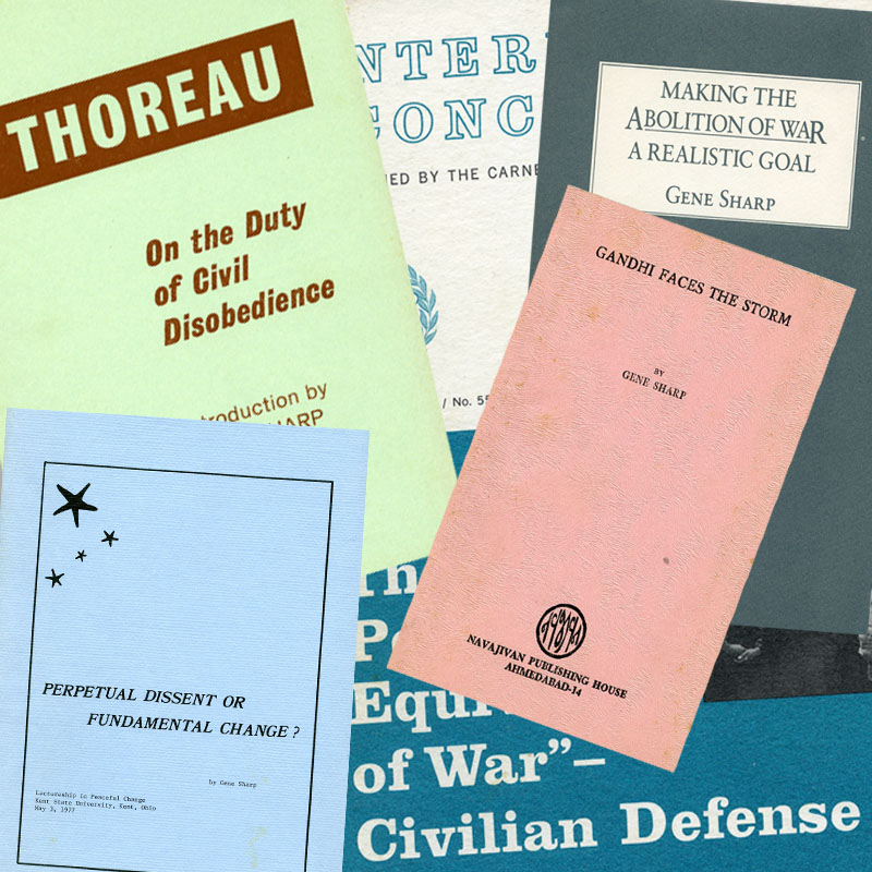 A collection of nonviolence pamphlets written by Gene Sharp