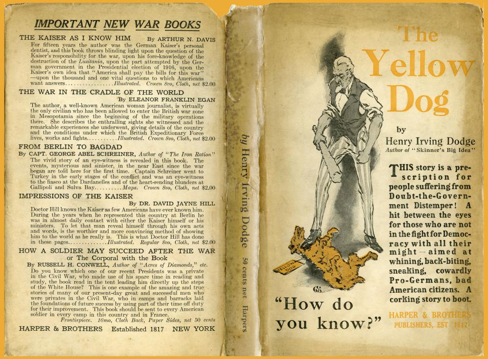 Dust jacket of The Yellow Dog by Henry Irving Dodge