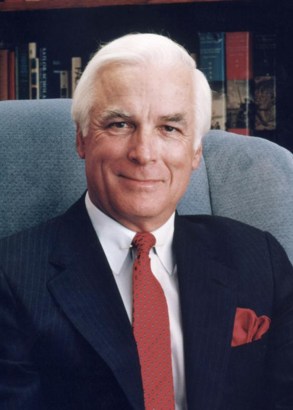Chancellor James Leutze (2007). Photo by UNCW University Relations.