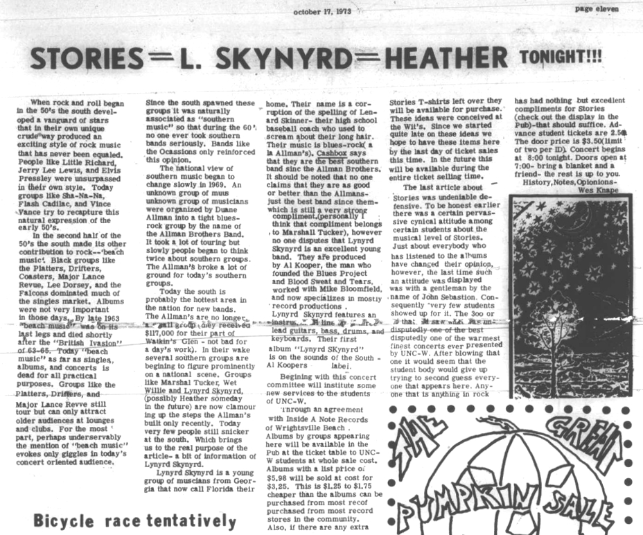 The Seahawk, October 17, 1973