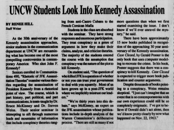 1993 Seahawk student newspaper