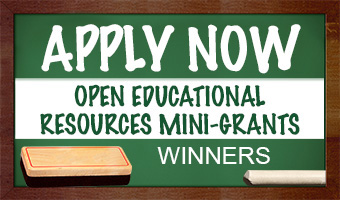 Open Educational Resources Mini-Grants 2020-2021 - WINNERS