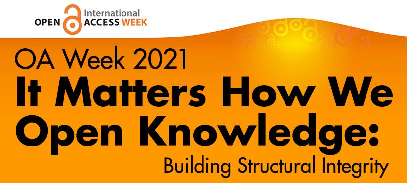 Open Access Week 2021 10/25-10/29