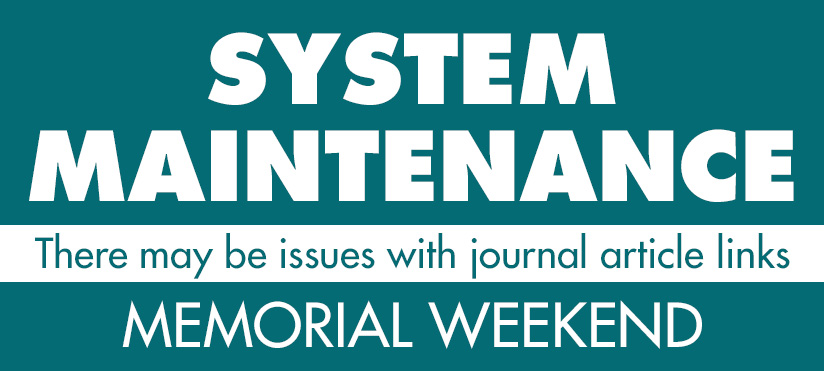 Downtime will cause issues with journal article links