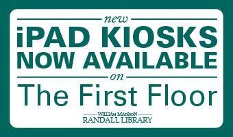 Randall Library Quick Look Up iPad Kiosks