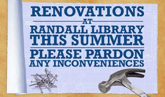 Renovations at Randall Library
