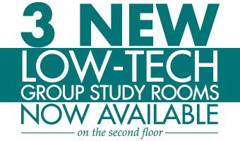 New Low-Tech Group Study Rooms on Second Floor