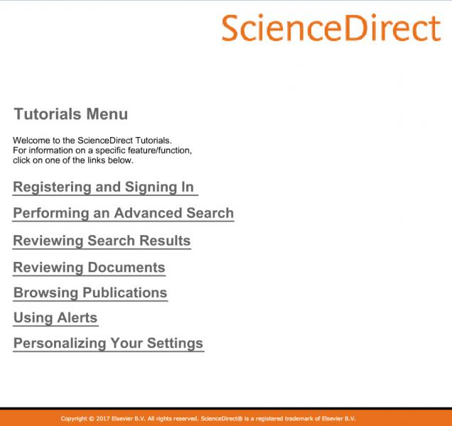Science Direct graphic