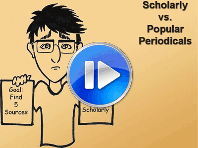 scholarly vs. popular graphic