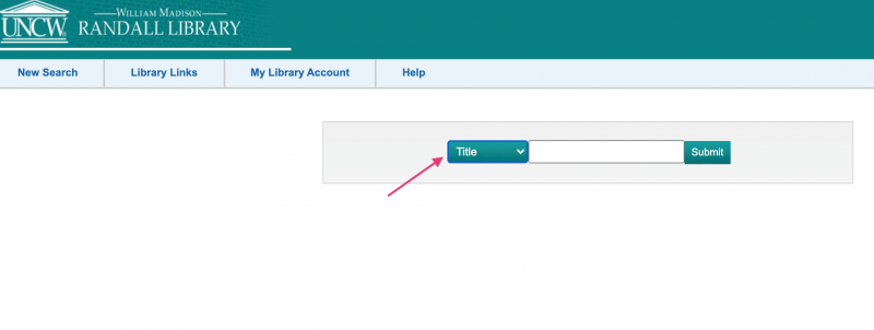 a screenshot of the library catalog