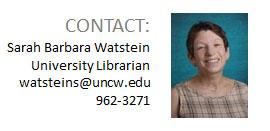 University Librarian Sarah Watstein