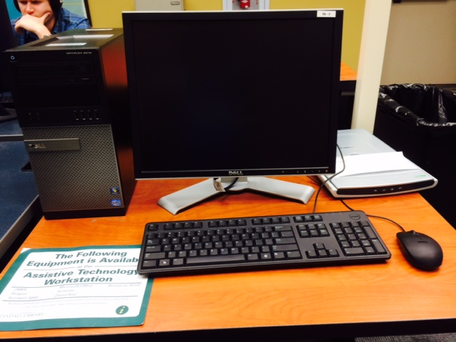 Main Assistive Technology Workstation in Randall Library