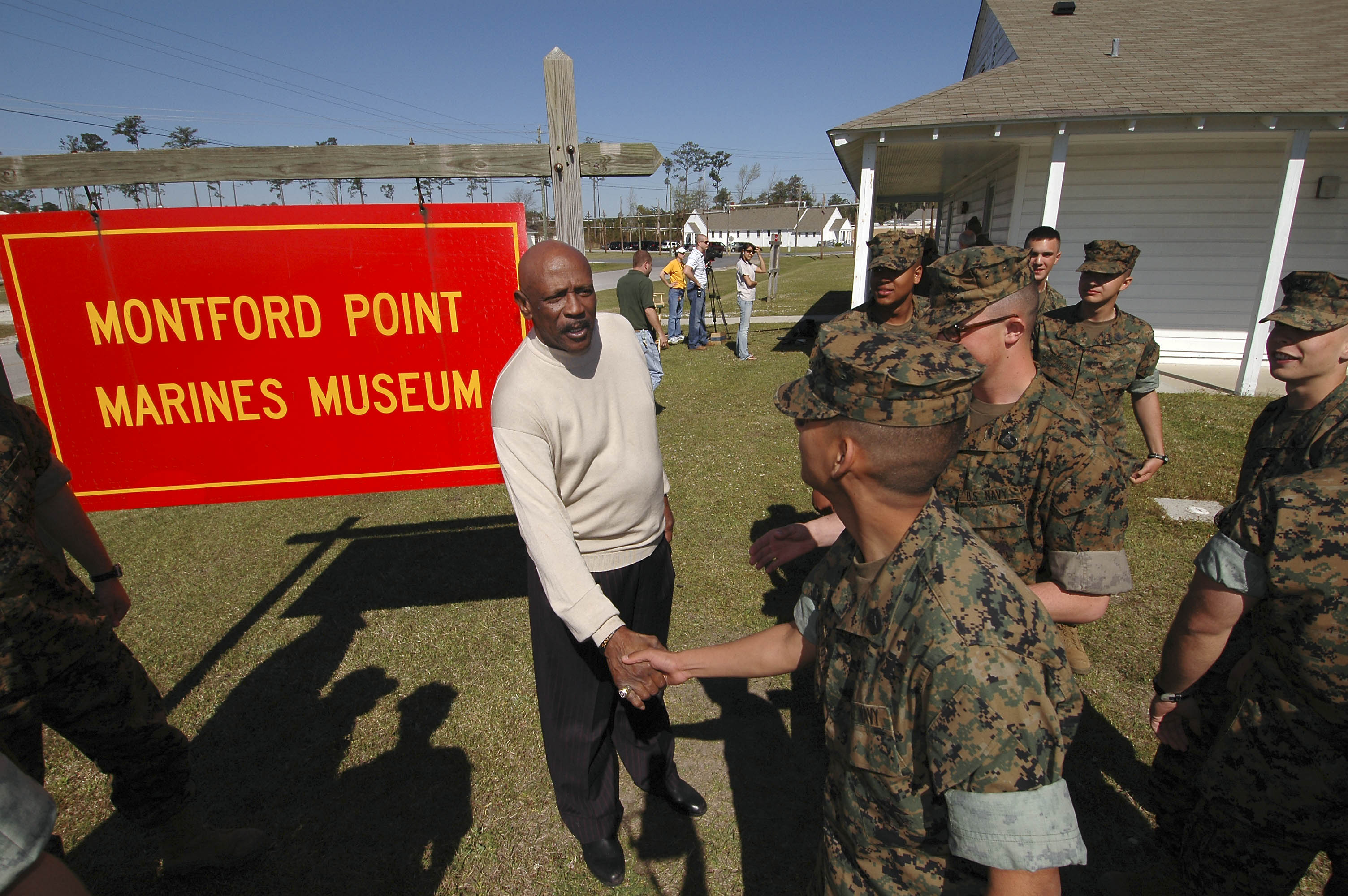 marines of montford point Camp johnson's official website montford point marine association news article on documentary external links montford point marines museum bernard c nalty.